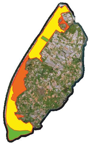 kaart van Texel